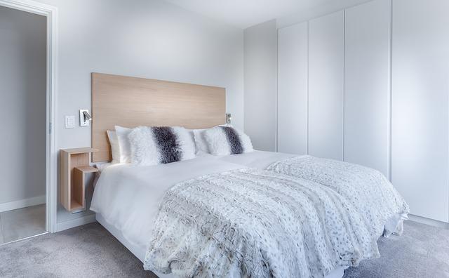 Lit dans chambre à coucher protéger contre les punaises de lit